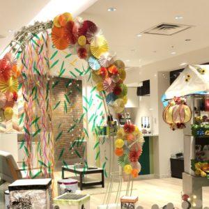 ホテルレオパレス仙台にて「お祭り」作品展示!華やかで賑やかに仕上がりました。