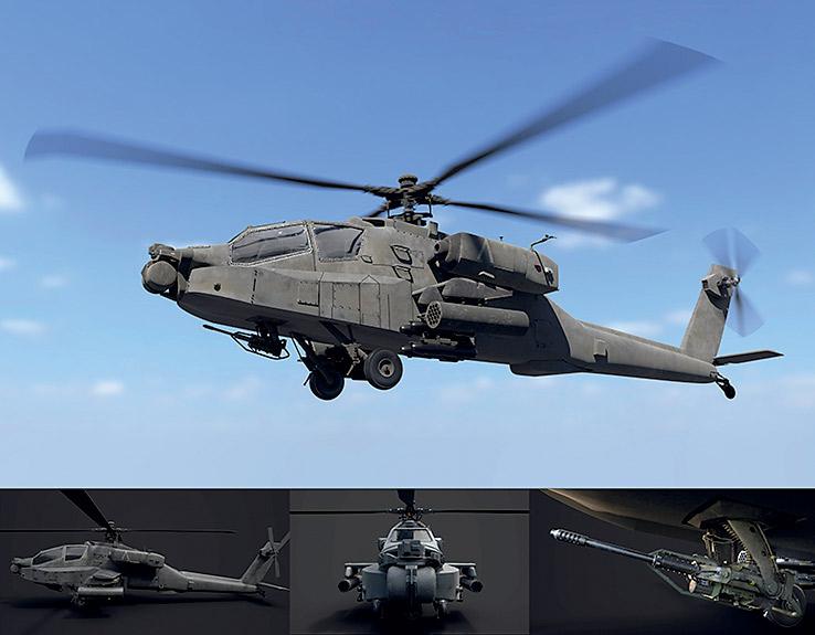 攻撃ヘリコプター AH-64 Apache