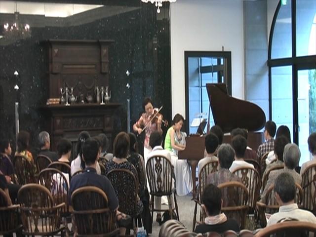 ♪ピアノとバイオリンによる夕涼みコンサート♪