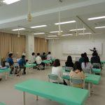 作業療法科2年生 授業風景 「作業分析について」