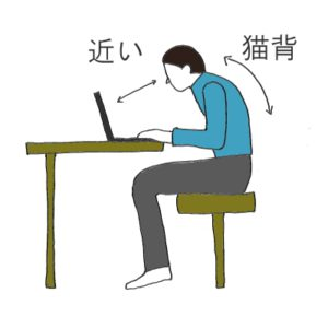 """<span class=""""title"""">ノートPCの葛藤。肩コリ、目の疲れ。リハビリ視点での良い姿勢とは。</span>"""